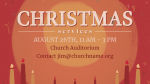 Christmas Services Red Candle  PowerPoint image 4