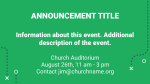 All-Church Football Game  PowerPoint Photoshop image 2